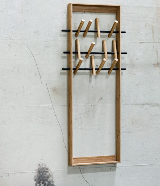 Natural Coat Frame we do wood bamboo furniture sustainable eco friendly hook hanger