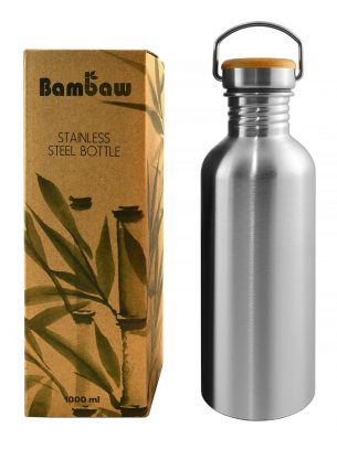 Bambaw Stainless Steel Reusable Water Bottle - 1L