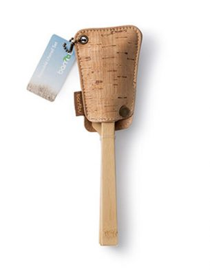 Bambu Bamboo Utensil Travel Set with Cork Pouch