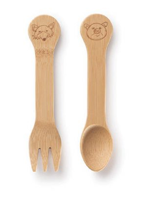 Bambu Sustainable Kids Fork & Spoon - 18m+