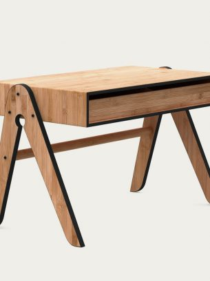 Black Geo Table we do wood bamboo furniture sustainable eco friendly kids childrens desk