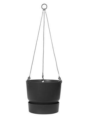 Greenville hanging basket 24cm black