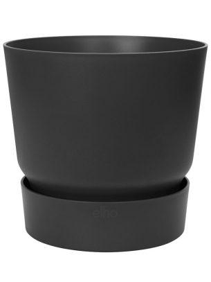 Greenville round pot 25cm black