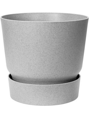 Greenville round pot 25cm concrete effect