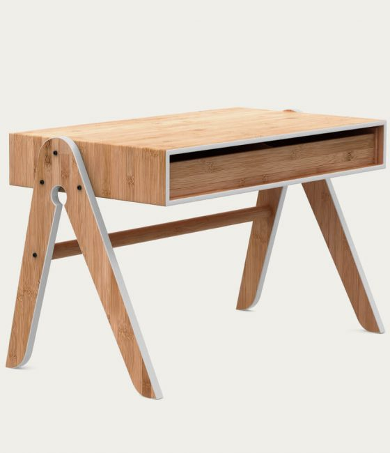 Grey Geo Table we do wood bamboo furniture sustainable eco friendly kids childrens desk