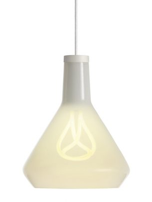 Plumen - Drop Top Shade and 001 LED Bulb - White