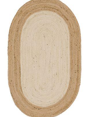 Sariska Oval Jute Rug - 90 x 150cm