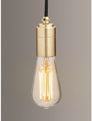 Tala LED Brass Ceiling Pendant Cord, Brass
