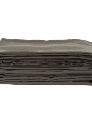 The Flax Sack Organic Linen Duvet Cover - Olive Grey - Double