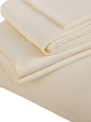 The Flax Sack Organic Linen Duvet Cover - Oyster White - Double