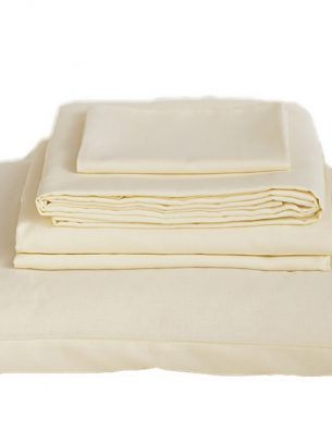 The Flax Sack Organic Linen Full Bedding Set - Oyster White - Double