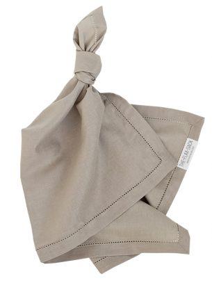 The Flax Sack Organic Linen Napkins - Raw Beige - Set of 2