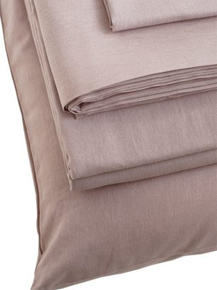 The Flax Sack Organic Linen Pillowcases - Champagne Pink - Set of 2
