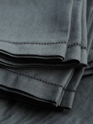 The Flax Sack Organic Linen Tablecloth - Olive Grey - 180x180cm
