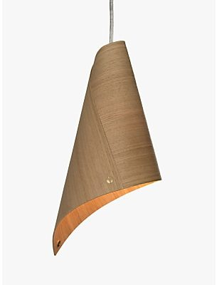 Tom Raffield Keel Ceiling Light, Oak