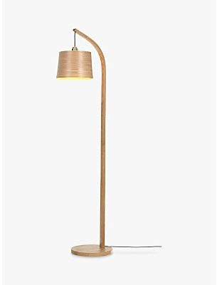 Tom Raffield Mullion Floor Lamp, Solid Oak